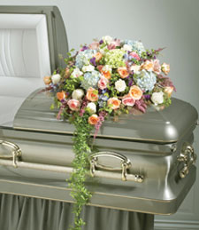 Fresh Linens Casket Spray