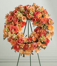 So Peachy Standing Wreath