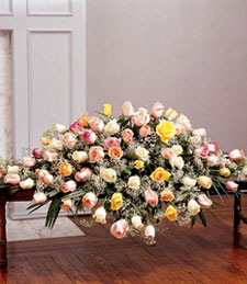Abundance of Roses Casket Spray