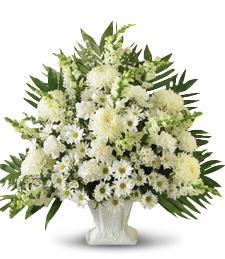 Sympathy Basket in White