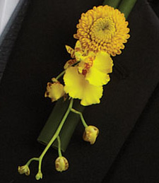 Yellow Orchids of Romance Boutonniere