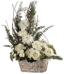 All White 'Just Because' Basket