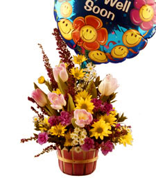 Get Well Sunshine Bouquet & Balloon