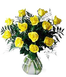 Yellow Birthday Roses