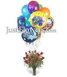 Red Roses & Balloons