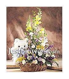 Baby Boy Flower Basket