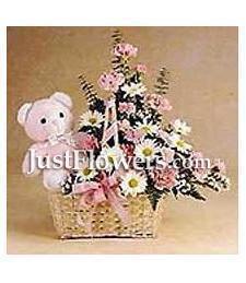 Flowers & Bear
