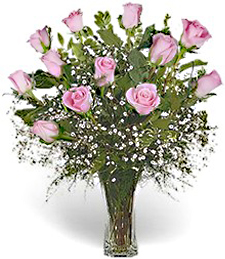 One Dozen Pink Prom/Wedding Roses