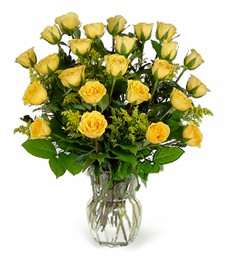Two-Dozen Yellow Birthday Roses