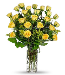2-Dozen Yellow Thank You Roses