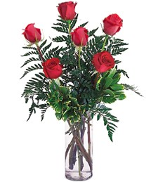 Half-Dozen Red Love Roses