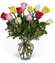 Assorted Birthday Roses -  Beautiful