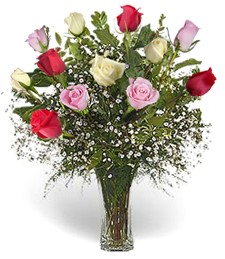 One-Dozen Assorted 'Just Because' Roses