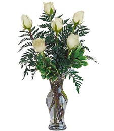 Half-Dozen White Thinking of You Roses