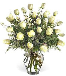 2-Dozen White Birthday Roses