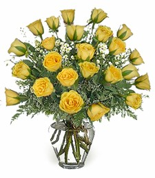 2-Dozen Yellow Birthday Roses