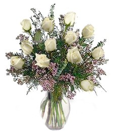 1-Dz White Birthday Roses