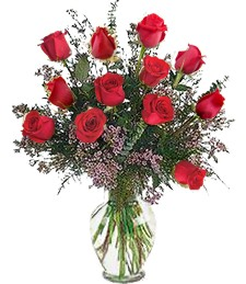 1-Dz Red Birthday Roses