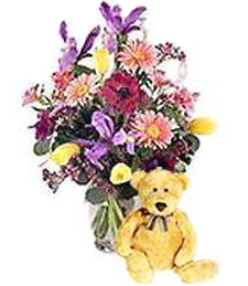 Spring Fling Love Bouquet & Bear