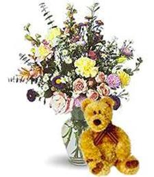 Uplifting Vase and Bear