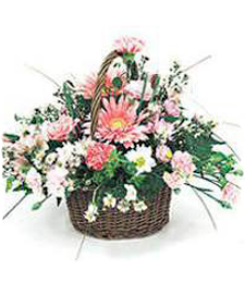 Pink Beauties Thinking of You Basket