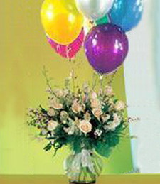 Roses Galore and Balloons