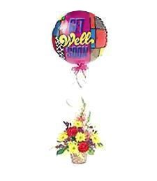 Petite Get Well Bouquet & Balloon