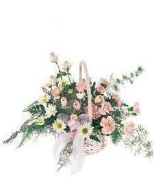 Pink Flower Get Well Basket