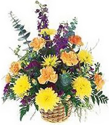 Mixed Flower Funeral Basket