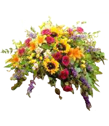 Blooms Galore Funeral Casket Cover