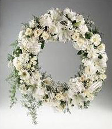 Fresh Flower Funeral Wreath