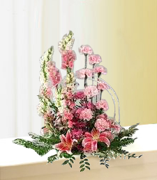 Color Me Pink Funeral Basket
