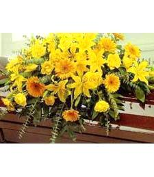 Solemn Sunshine Casket Spray