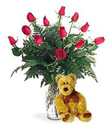 Symbol of Love Bouquet & Bear