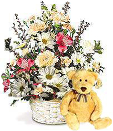 Country Charm Basket w/ Bear