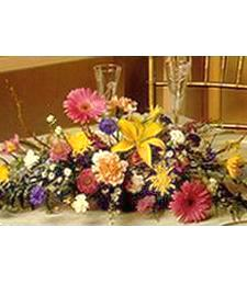 Bright Oblong Birthday Centerpiece