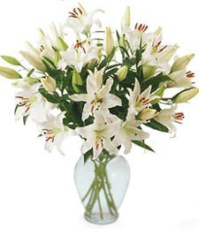 Wonderful in White Anniverary Bouquet
