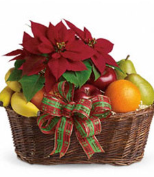 Poinsettia Fruit Basket
