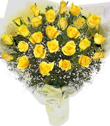 2 Dozen Yellow Roses Bouquet
