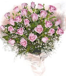 2 Dozen Pink Roses Bouquet