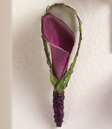 Burnished Calla Lily Boutonniere