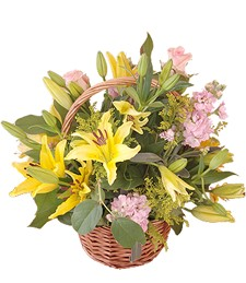 Yellow Lily Basket