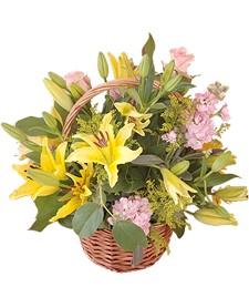 Yellow Lily Basket