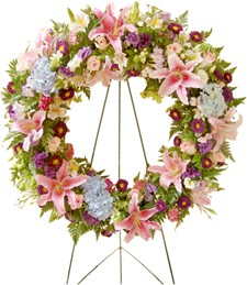 Enchanting Blossoms Funeral Wreath