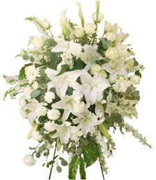 Pure Elegance Standing Funeral Spray
