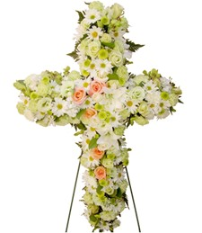 Spring Salute Cross Standing Sympathy Spray
