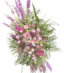 Springtime Allure Standing Funeral Spray