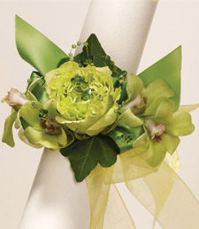 Greens of Vibrance Corsage