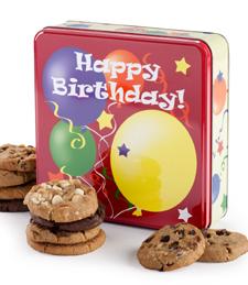 Birthday Balloons Tin with 12 Cookies