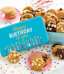 Birthday Balloons Tin with 28 Nibblers® Cookies